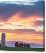 Colorado Farmers Sunset Canvas Print