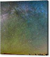 Colorado Indian Peaks Milky Way Panorama Canvas Print