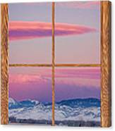 Colorado Moon Sunrise Barn Wood Picture Window View Canvas Print