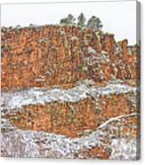 Colorado Red Sandstone Country Dusted With Snow Canvas Print