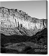 Colorado River Cliff Bw Canvas Print