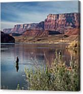 Colorado River Fisherman Canvas Print