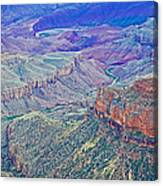 Colorado River From Walhalla Overlook On North Rim Of Grand Canyon-arizona Canvas Print