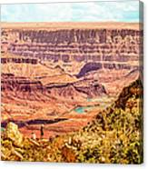 Colorado River One Mile Below And 18 Miles Across The Grand Canyon  Canvas Print