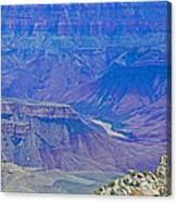 Colorado River Two At Cape Royal On North Rim Of Grand Canyon-arizona Canvas Print