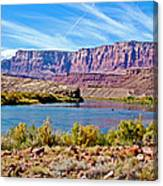 Colorado River Upstream From Boat Ramp At Lee's Ferry In Glen Canyon National Recreation Area-az Canvas Print