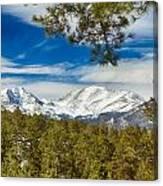 Colorado Rocky Mountain View Canvas Print