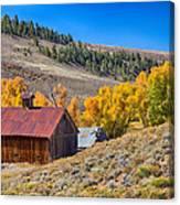 Colorado Rustic Rural Barn With Autumn Colors  Canvas Print