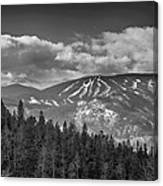 Colorado Ski Slopes In Black And White Canvas Print