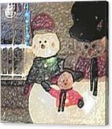 Colorado Snowman Family 1 12 2011 Canvas Print