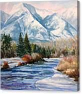 Colorado Winter On The Arkansas River Canvas Print