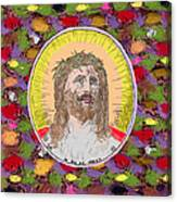 Colored Background Jesus Canvas Print