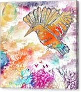 Colored Bird Canvas Print