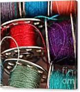 Colored Bobbins - Seamstress - Quilter Canvas Print