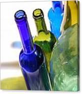 Colored Bottles Canvas Print