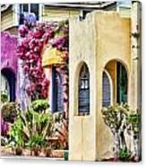 Colored Cottages By Diana Sainz Canvas Print
