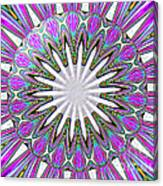 Colored Foil Lily Kaleidoscope Under Glass Canvas Print