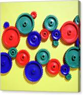 Colored Gears Canvas Print
