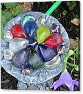 Colored Glass Shells Canvas Print