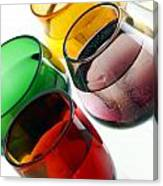 Colored Glasses At An Angle Canvas Print