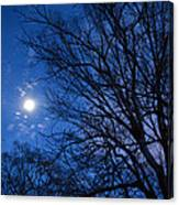 Colored Hues Of A Full Moon Canvas Print