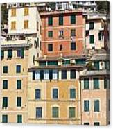 Colored Italian Facades Canvas Print