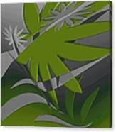 Colored Jungle Green Canvas Print
