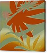 Colored Jungle Orange Splash Canvas Print
