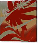 Colored Jungle Red Canvas Print