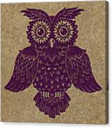 Colored Owl 1 Of 4  Canvas Print
