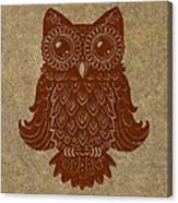 Colored Owl 2 Of 4  Canvas Print