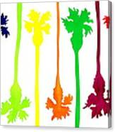Colored Palms Canvas Print