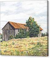 Colored Pencil Barn Canvas Print