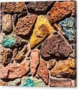 Colored Stone Rock Church Wall - Cedar City - Utah Canvas Print