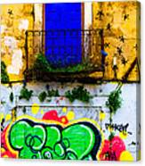 Colored Wall Canvas Print