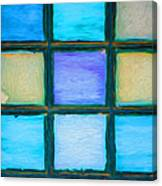 Colored Window Panes Canvas Print