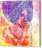 Colored Woman Canvas Print