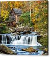 Colorful Autumn Grist Mill Canvas Print