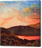 Colorful Autumn Sunset Canvas Print