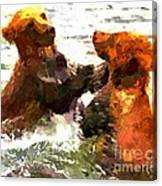 Colorful Bears Canvas Print