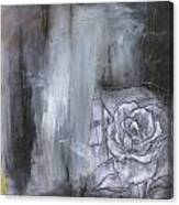 Colorful Black And White Rose Canvas Print