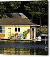 Colorful Boathouse Canvas Print