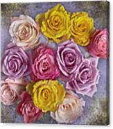 Colorful Bouquet Of Roses Canvas Print