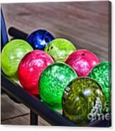 Colorful Bowling Balls Canvas Print