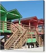 Colorful Cabanas Canvas Print