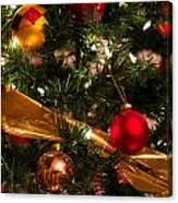 Colorful Christmas Ornaments  Canvas Print