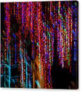 Colorful Christmas Streaks - Abstract Christmas Lights Series Canvas Print
