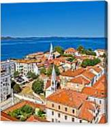 Colorful City Of Zadar Rooftops  Towers Canvas Print