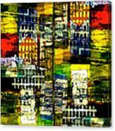 Colorful City Scene Canvas Print