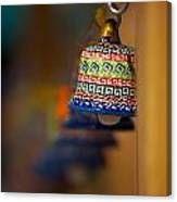 Colorful Clay Bells Canvas Print